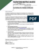 CARTA A PADRES DE FAMILIA POR PANDEMIA CORONAVIRUS 2020-1