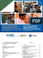 Guia de Informação sobre o trabalho dos imigrantes e refugiados