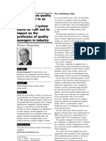 Evolution from quality management to an integrative management system based on TQM and its impact on the profession of quality managers in industry