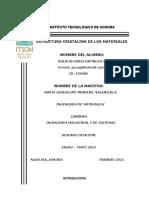 ESTRUCTURAS CRISTALINAS DE LOS MATERIALES