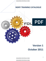 FY 2011 FOUNDRY TRAINING CATALOGUE
