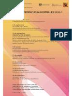 Conferencias Magistrales 2020-1. Filosofía Mexicana