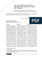 A longa paz na América do Sul. Questionamentos às teses da paz negativa na região - Duarte & Pimienta