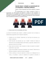 TECNICAS PARA CONOCER MEJOR Y ATENDER LAS NECESIDADES DE CLIENTES DE PEQUEÑAS Y MEDIANAS EMPRESAS