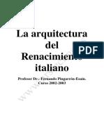 La arquitectura del Renacimiento italiano