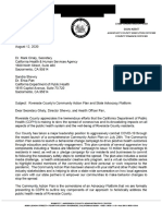 Riverside County Letter to CDPH Re