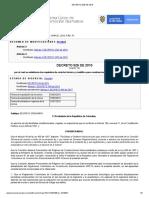 DECRETO 926 DE 2010 con resumen modificaciones