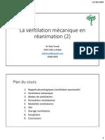 ventilation mécanique anesthesie P2 pour pdf