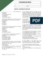 9o ano - Exercícios - Fisica - Cinemática - MOVIMENTO E REPOUSO.docx