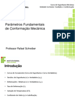 Aula 01 - Parametros fundamentais conformação prof. Rafael Schreiber