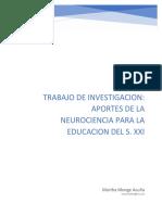 Trabajo de investigación Aportes de la neurociencia para la Educación del S. XXI.docx