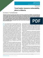 Identification of local water resource vulnerability to rapid deglaciation in Alberta