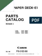 CLC PAPER DECK-E1 parts catalog
