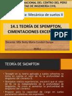 14.1 TEORÍA DE SKEMPTON, CIMENTACIONES EXCENTRICAS