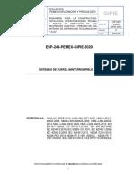 ESP-249-PEMEX-GIPIE-2020 SISTEMAS DE FUERZA ININTERRUMPIBLE (SFI)