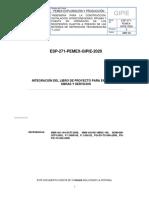 ESP-271-PEMEX-GIPIE-2020 INTEGRACIÓN DEL LIBRO DE PROYECTO PARA ENTREGA DE OBRAS Y SERVICIOS