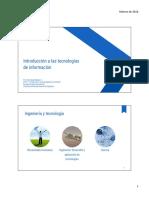 01. Introducción a las tecnologías de información