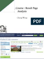 Result Page Analysis (Cheng Wang)
