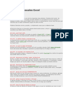 20 errores usuales Excel