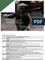 2010 Vulnerability Programme (Nov 2010)