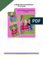 27 Amigurumi Mini Baby Sternschnuffeltuch 11 cm Groß Korigiert