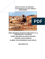 7. Mecanica de rocas como apoyo a la perforacion y voladura -Cordova
