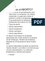 ABORTO total
