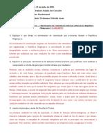 REVISÃO PARA A PROVA - 9 ANO- GABARITO