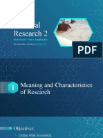 01.2 Characteristics, Types, Strengths and Weaknesses of Research