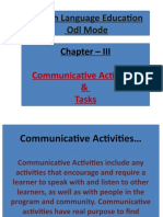 CHAPTER - III  COMMUNICATIVE ACTIVITY & TASKS force