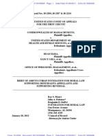 Foundation Moral Law Amicus Brief - Mass DOMA cases