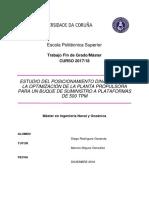 Estudio del posicionamiento dinámico y planta propulsora de buque suministro a plataformas de 500 TPM