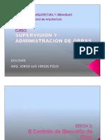 Contrato de Obra - SUPERVISIÒN Y ADM