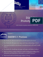 DIADEM 0.1, Next Steps (January 2011)