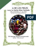 XII Domingo Después de Pentecostés. Guía de los fieles para la santa misa cantada. Kyrial Orbis Factor