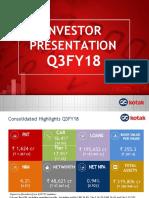 Kotak_Q3FY18-Investor Presentation