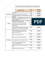 Rubric for Verbal Presentation