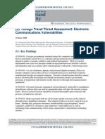 Dhs Travel Threat Assessment 2008