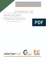 Manual do Curso Os Relatórios de Avaliação Psicológica