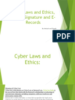 Cyber Laws and Ethics, Digital Signature and E-Records.pptx