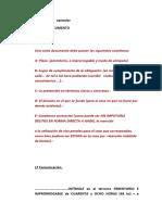 Berta - Modelo carta documento Intercambio  epistolar