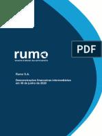 Informações Dos Resultados Trimestrais Rumo RAIL3 ITR 2t20 2020