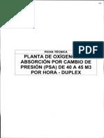 Anexo 6 - 9 FICHA TECNICA_Planta de Generacion de Oxigeno PSA de 40 a 45 m3 por hora - DUPLEX