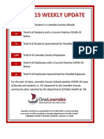 Lowndes County Schools weekly COVID update 8/18