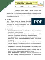 GI-P-03_VER05 Procedimiento de acciones correctivas, preventivas y de mejora