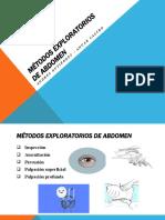 métodos exploratorios de abdomen