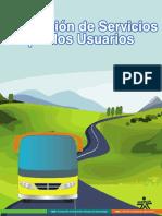 evaluacion de servicios por los usuarios turisticos