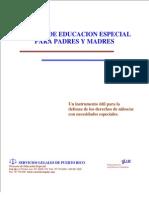 Manual de Educacion Especial para Padres y Madres