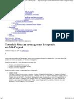 Tutorial_ Montar cronograma integrado no MS-Project  Liderança e Gestão de Projetos