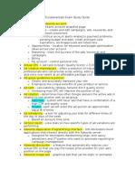 Fundamentals Exam Study Guide FINAL